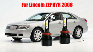 LED Headlight CREE Bulb Low Beam Kit H11 6000K White For 2006 Lincoln Zephyr