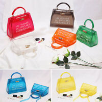 Women Transparent Fashion Alphabet Jelly Bag Messenger Handbag Shoulder Bag