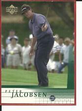 2001 Upper Deck #19 Peter Jacobsen RC Rookie Golf Card