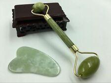 Home Guasha Facial Jade Roller Face Thin+Body Gua Sha Board Massager Tool Set