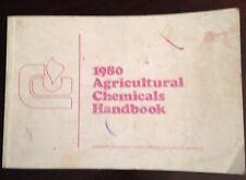 Vintage 1980 Agricultural Chemicals Handbook by Clemson University