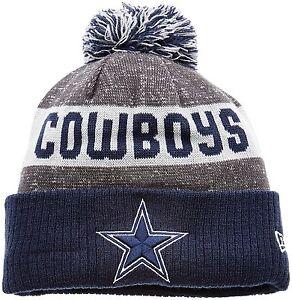 Dallas Cowboys NFL Sideline Bobble One Size Beanie Hat With Pom