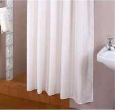 Cortina de ducha tejido blanco 120 ancho x 200 Alto incl. anillos 120x200