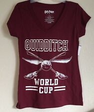 Ladies Jrs XXLarge 19 HARRY POTTER HOGWARTS Quidditch  Cup Maroon SHIRT