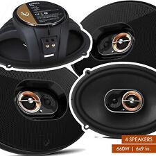 "4x Infinity Kappa 93ix 660W 6"" x 9"" inches 3-Way Coaxial Speakers Multi-element"