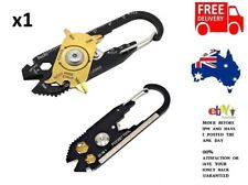 20 IN 1 EDC Stainless Steel Pocket Carabiner Multi Tool Knife Hunting Tactical