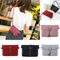 Women PU Crossbody Bag Shoulder Small Square Messenger Handbag Satchel Tote GA