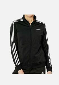 Adidas Womens Essential 3 Stripe Tricot Track Jacket NWT SIZE M