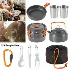 Camping Brunner Inox Lot de Casserole Ustensiles de Cuisine Camping Pots Academy 4+1 ø20