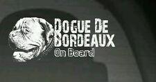 Dogue de Bordeaux a bordo, Auto Adesivo, più Dettagli, Grande Regalo per Amante dei Cani
