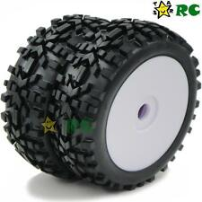 2pcs 1:8 Off Road Badlands Tires Tyres Hex 17mm Wheels Rims For 1/8 RC Buggy Car