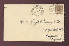 GOLD COAST BEKWAI 1927 to OLD HILL STAFFS GB SINGLE 1d KG5 FRANKING