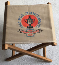 Vintage 1987 PGA Championship Folding Canvas Chair Stool PGA National Golf Club