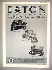 Eaton Axle & Spring PRINT AD - 1925 ~~ Equipment for Motor Cars