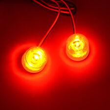 12-85V Car Truck Flashing Emergency Warning LED Strobe Lights Flasher Red