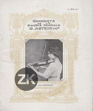 BALLETS RUSSES Nijinsky G. ASTRUC MORHANGE Violon Concert NEUMONT Programme 1911