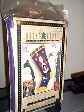 Christmas Santa Quilt Applique Christmas Stocking Kit Hodge Podge Felt