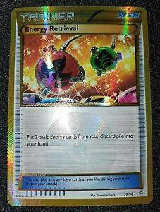 Holo Secret Rare Pokemon Trainer Card - Energy Retrieval - Ancient Origins 99/98