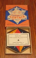 CONTACK Parker Brothers 1939 strategy game Original Box Directions Vintage