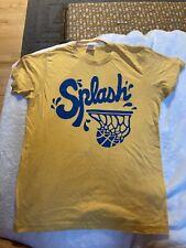 Homage Soft Medium T-shirt Yellow Water Basketball Splash Vintage Look