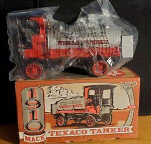New ERTL 1910 MACK SENIOR TEXACO TANKER COIN BANK DIE CAST. Our t1781