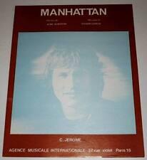 Partition vintage sheet music C. JEROME : Manhattan * 70's TBE