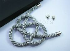 1Pcs For Chinese Good Luck Silvery Kin Tsuna Rope Car Rearview Mirror Vip Charms