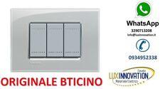 PLACCA BTICINO LNA4803KG GRIGIO GHIACCIO ORIGINALE BTICINO LIVING LIGHT