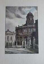 Igo Pötsch UNIVERSITÄT IN OXFORD Originaldruck aus 1932 Kunstblatt print