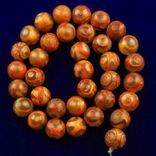 """10mm natural de naranja a Rayas Redondo Cuentas Sueltas De Piedras Preciosas Ágata del filamento de 15/"""" AAA"""