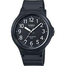 Casio Colección Cuarzo Esfera Negra Correa Resina Reloj Hombre MW-240-1BVEF