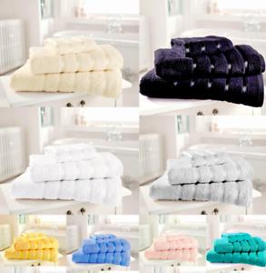 100% Cotton Kensington Ribbon Towel Hand/ Bath Towel Bath Sheet Jumbo Bath Sheet
