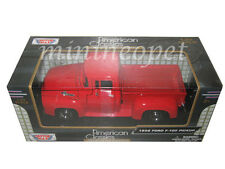 MOTORMAX 73235 1956 56 FORD F-100 PICK UP TRUCK 1/24 DIECAST RED