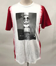 Obey Men's T-Shirt Poster Pole Photo White/Red LRG NWT Shepard Fairey Icon Face