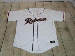 NEW $90 OT Sports Tacoma Rainiers Script White MiLB Mariners Baseball Jersey