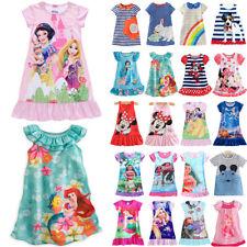 Toddler Kid Girls Princess Cartoon Minnie Mickey Nightie Nightdress Casual Dress