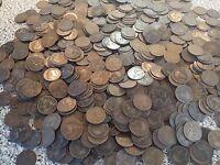 400 Edward Pennies coins bronze coins large bulk  lot 400 coins