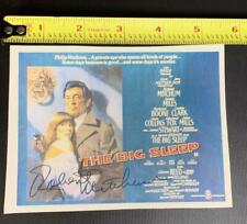 "Authentic Actor Robert Mitchum 4"" x 5.25"" Autograph Signature The Big Sleep"