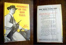 Vintage 1960s Western Gunsmoke on the Iron Trail Matt Winstan Herbert Jenkins HB