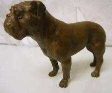 Vintage Solid Bronze BULL DOG Figurine Signed Limited Ed 10/100 Statue Bulldog