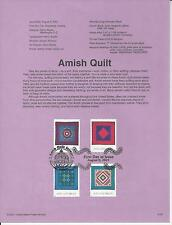# 3524-3527 AMISH QUILT 2001 Official Souvenir Page