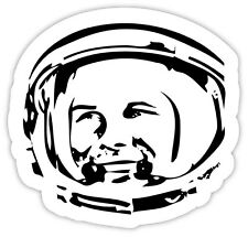 Gagarin astronaut astronauta spazio space etichetta sticker 12cm x 12cm