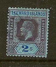 LEEWARD ISLANDS :1922 2/- purple and blue/blue  SG 55 used