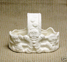 Ceramic Bisque Gingerbread Basket Dona's Mold 1224 U-Paint Ready To Paint
