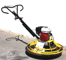 Honda Gx160 Power Trowel Concrete Cement Surface Smooth Finish With37 Float Plate