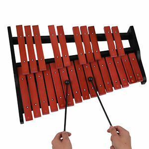 25 Note Wooden Xylophone Percussion Educational Musical Instrument w/ 2 Mallets