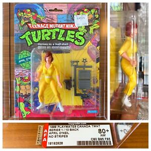 Grail 1988 Canada TMNT April O'Neil No Stripes AFA 80+ 10 Back Only 2 In The 🌎