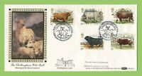 G.B. 1984 British Cattle set on Benham First Day Cover, Chillingham