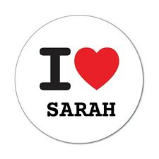 I Love Sarah-Adesivo Sticker Decal - 6cm