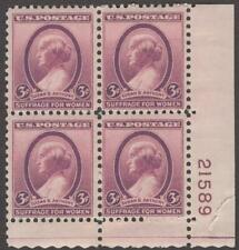 Scott # 784 - Us Plate Block Of 4 - Susan B. Anthony - Mnh -1936